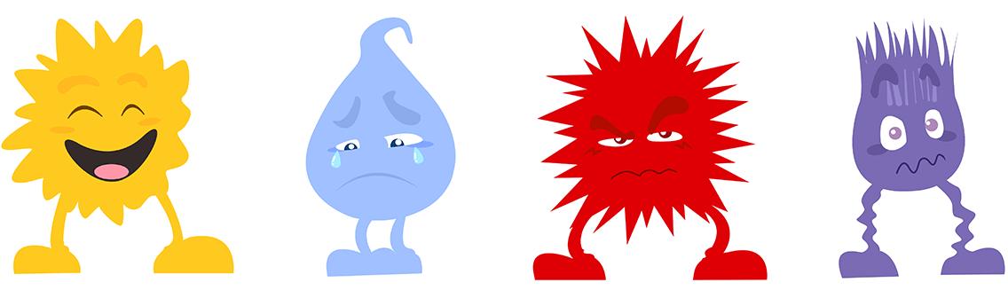 Les 4 émotions principales en image - Rigolo Comme La vie