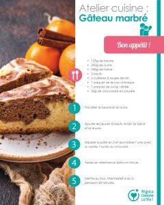 Fiche d'activité - Gâteau marbré
