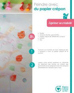 Fiche d'activité - peindre avec du papier crépon