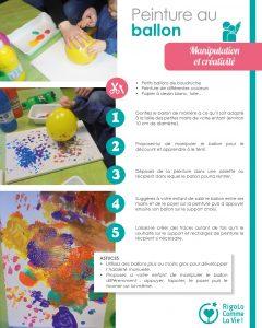 Fiche d'activité - Peinture au ballon