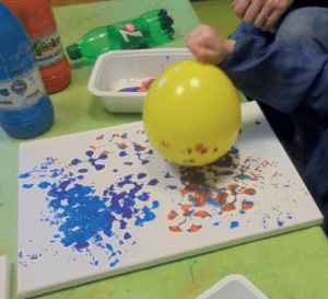 Peinture au ballon