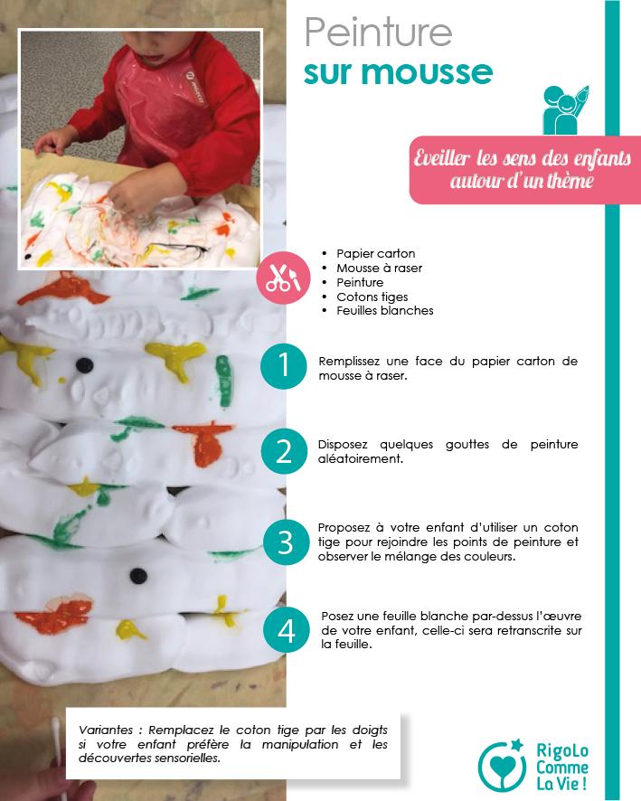 Fiche activité - peinture sur mousse